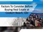 Things to keep in mind while investing in a real estate.