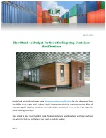 How Much to Budget for Specific Shipping Container Modifications