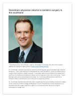 Dr. Christopher Cummings - The Newest Addition to a General Surgery group at Saint Joseph Medical Center.