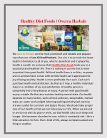 Healthy Diet Foods | Overra Herbals