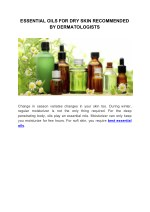 ESSENTIAL OILS FOR DRY SKIN RECOMMENDED BY DERMATOLOGISTS