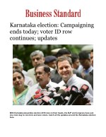 Karnataka election: Campaigning ends today; voter ID row continues; updates