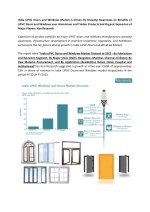 uPVC Doors Windows Extrusion Market, Profine UPVC Revenue, UPVC imports India-Ken Research