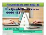 How to Fix QuickBooks error 6000 -83