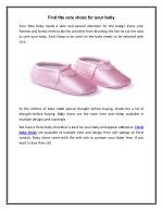 Find the cute shoes for your baby