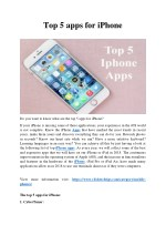 Top 5 apps for iPhone