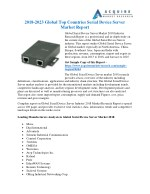 Serial Device Server Market - Global Industry Analysis, Growth and Forecast, 2018-2025