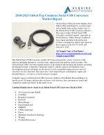 Global Serial USB Converters Market 2018 Demands and Insights Analysis Report