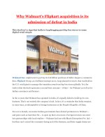 Why Walmart's Flipkart acquisition is its admission of defeat in India