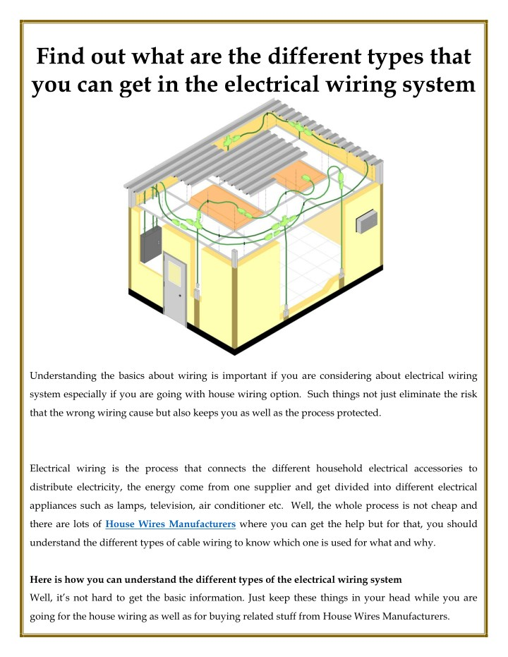 types of house wiring ppt wiring diagram gpppt different types that you can  get in the