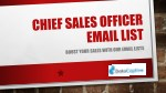 Chief Sales Officer Email List | Chief Sales Officer (CSO) Mailing Database