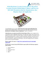 Global Real-time Location System (RTLS) Industry 2018 Market Growth, Trends and Demands Research Report