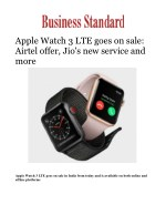 Apple Watch 3 LTE goes on sale: Airtel offer, Jio's new service and more