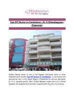 Top IVF Doctor in Coimbatore   Dr. S Dhanabagyam   Elawoman