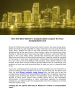 Hire the Best Worker's Compensation Lawyer for Your Complicated Case