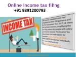 How to Online income tax filing 09891200793