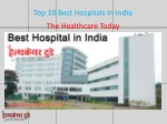 Top 10 Best Hospitals In India
