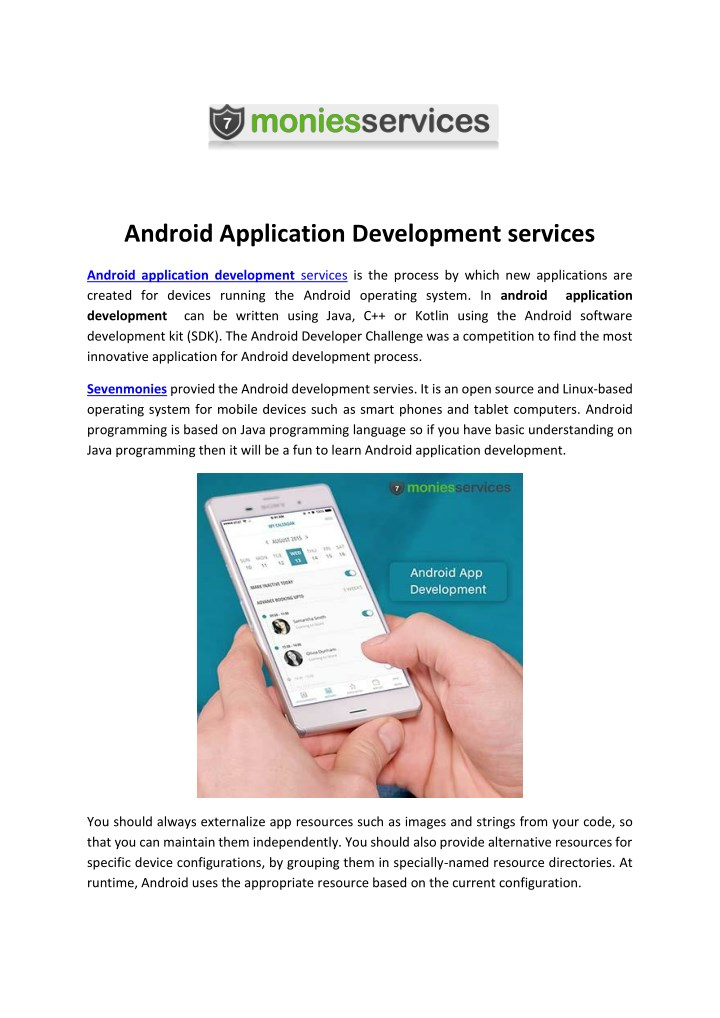 PPT - Android Application Development services PowerPoint