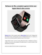 Reliance Jio Files Complaint Against Airtel Over Apple Watch ESim Service