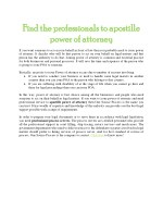 Find the professionals to apostille power of attorney