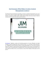Jim Neumann: What Makes Creative Content Management Creative?