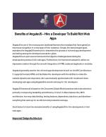 Benefits of AngularJS – Hire a Developer To Build Rich Web Apps