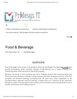 ERP Software For The Food And Beverage Industry | Pridesys IT Ltd