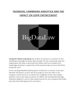 Facebook, cambridge analytica and the impact on gdpr enforcement