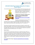 Gluten-Free Products Industry Global Market Trends, Share, Size and 2025 Forecasts Report