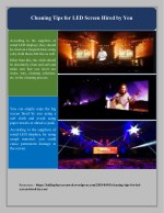 Cleaning Tips for LED Screen Hired by You