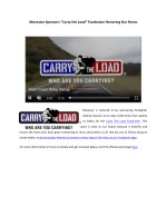 "Movestar Sponsors ""Carry the Load"" Fundraiser Honoring Our Heros"