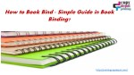 How to Book Bind - Simple Guide in Book Binding?