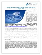 Surgical Drainage System Market - Global Industry Analysis, Growth and Forecast, 2018-2025