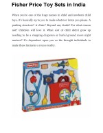 Fisher Price Toy Sets in India