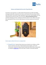 Home and Industrial Security Tips-Qi locks