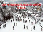 Top 10 Famous Places To Visit in Shimla