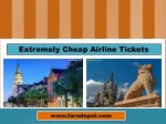 Extremely Cheap Airline Tickets