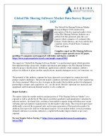 File Sharing Software Market Development Status, Trends, Structure, Production Value, 2018-2025