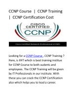 CCNP Certification Cost | CCNP Course | CCNP Training