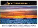 Unbelievable Facts About Cabo Catamaran