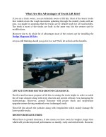 What Are the Advantages of Truck Lift Kits?