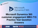 Microsoft Dynamics 365 Enterprise MB2-715 Practice Test