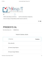 General Ledger Software | Pridesys It Ltd