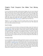 Organic Food Coupons Can Make Your Money Stretch