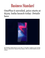 OnePlus 6 launching today event livestream to start at 9:30 PM; India launch set for May 17