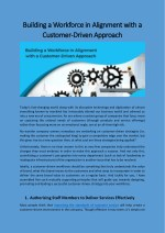 Building a Workforce in Alignment with a Customer-Driven Approach