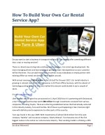 How to Build Your Own Car Rental Service App?