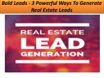 Bold Leads - 3 Powerful Ways To Generate Real Estate Leads
