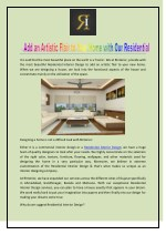 The World is One Residential Interior Design by RInterior