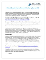 Remote Starter Industry: Global Market Size, Growth, Trends and 2025 Forecasts Report